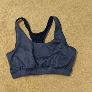Blue sports bra, new within the last 6 months.